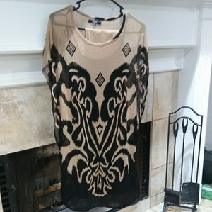 Shirt light with attached cami and leggings